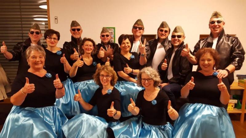 Auftrittsgruppe zur Elvis-Show